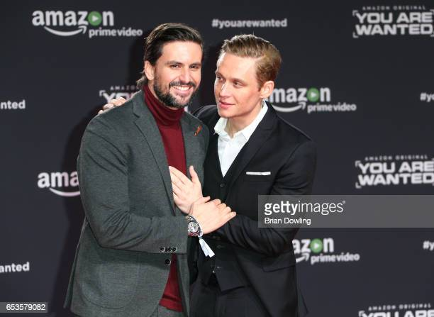Tom Beck and Matthias Schweighoefer arrive at Amazon Prime Video's premiere of the series 'You are Wanted' at CineStar on March 15 2017 in Berlin...