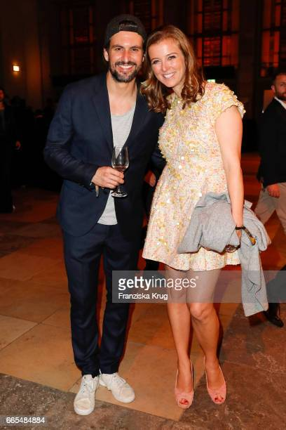 Tom Beck and Nina Eichinger attend the Echo award after show party on April 6 2017 in Berlin Germany