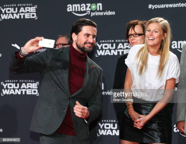 Tom Beck and Toni Garrn arrive at Amazon Prime Video's premiere of the series 'You are Wanted' at CineStar on March 15 2017 in Berlin Germany