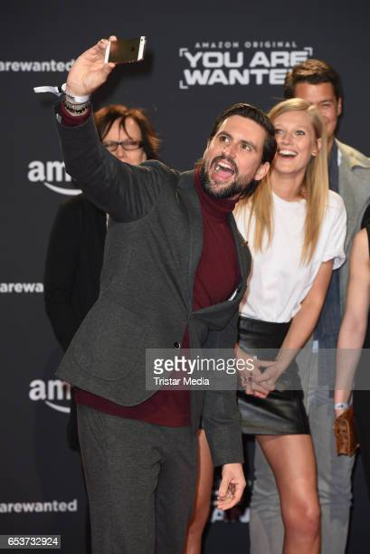 Tom Beck and Toni Garrn attend the premiere of the Amazon series 'You are wanted' at CineStar on March 15 2017 in Berlin Germany