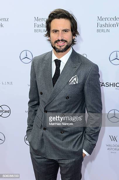 Tom Beck attends the Baldessarini show during the MercedesBenz Fashion Week Berlin Autumn/Winter 2016 at Brandenburg Gate on January 21 2016 in...