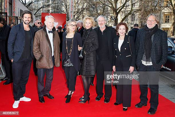 Tom Beck Gunnar Moeller Barbara Sukowa Katja Riemann August Zirner Karin Dor and Matthias Habich attend the ''The Misplaced World' Premiere 65th...