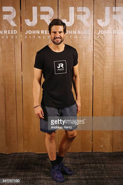 Tom Beck poses for photographers at John Reed Fitness on July 14 2016 in Bonn Germany John Reed Fitness launches today their first studio in Germany