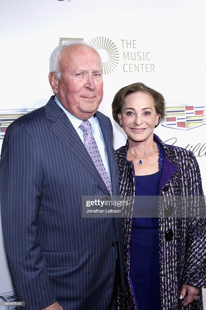 Tom Beckmen and Gala Co-Chair Judy Beckmen arrive at The Music Center's 50th Anniversary Launch Party held at The Dorothy Chandler Pavilion on April 1, 2014 in Los Angeles, California.