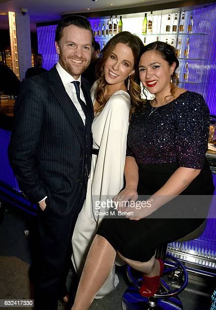 Tom Bennett Kate Beckinsale and Rebecca Bennett attend The London Critics' Circle Film Awards after party in the May Fair Bar at the May Fair Hotel...