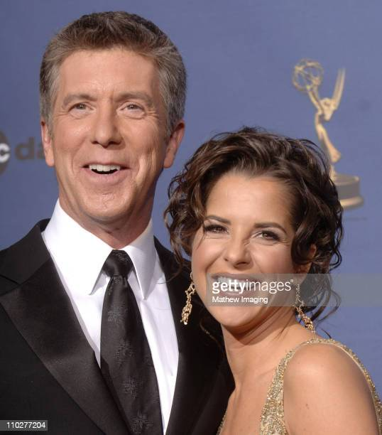 Tom Bergeron and Kelly Monaco hosts during 33rd Annual Daytime Emmy Awards Press Room at Kodak Theater in Hollywood California United States