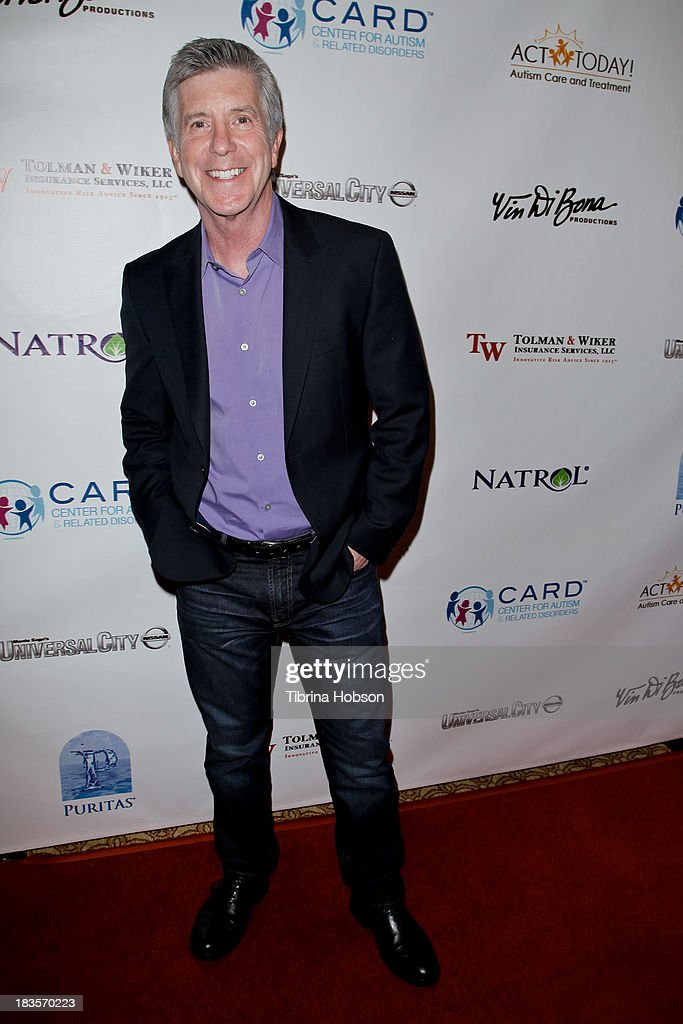 <a gi-track='captionPersonalityLinkClicked' href=/galleries/search?phrase=Tom+Bergeron&family=editorial&specificpeople=663624 ng-click='$event.stopPropagation()'>Tom Bergeron</a> attends the 8th annual Denim & Diamonds for Autism at Fours Season Hotel on October 6, 2013 in Westlake Village, California.