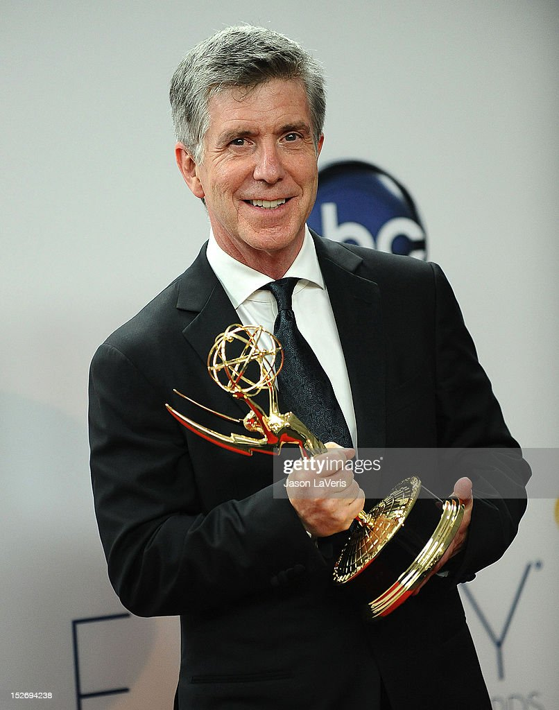 <a gi-track='captionPersonalityLinkClicked' href=/galleries/search?phrase=Tom+Bergeron&family=editorial&specificpeople=663624 ng-click='$event.stopPropagation()'>Tom Bergeron</a> poses in the press room at the 64th Primetime Emmy Awards at Nokia Theatre L.A. Live on September 23, 2012 in Los Angeles, California.