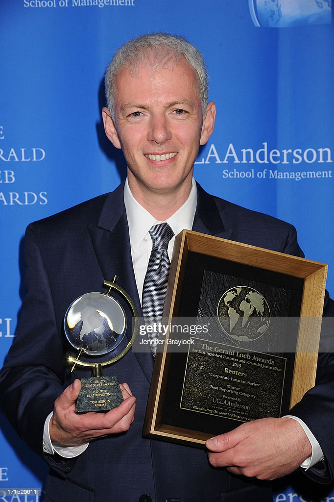 Tom Bergin attends the 2013 Gerald Loeb Awards on June 25, 2013 in New York City.