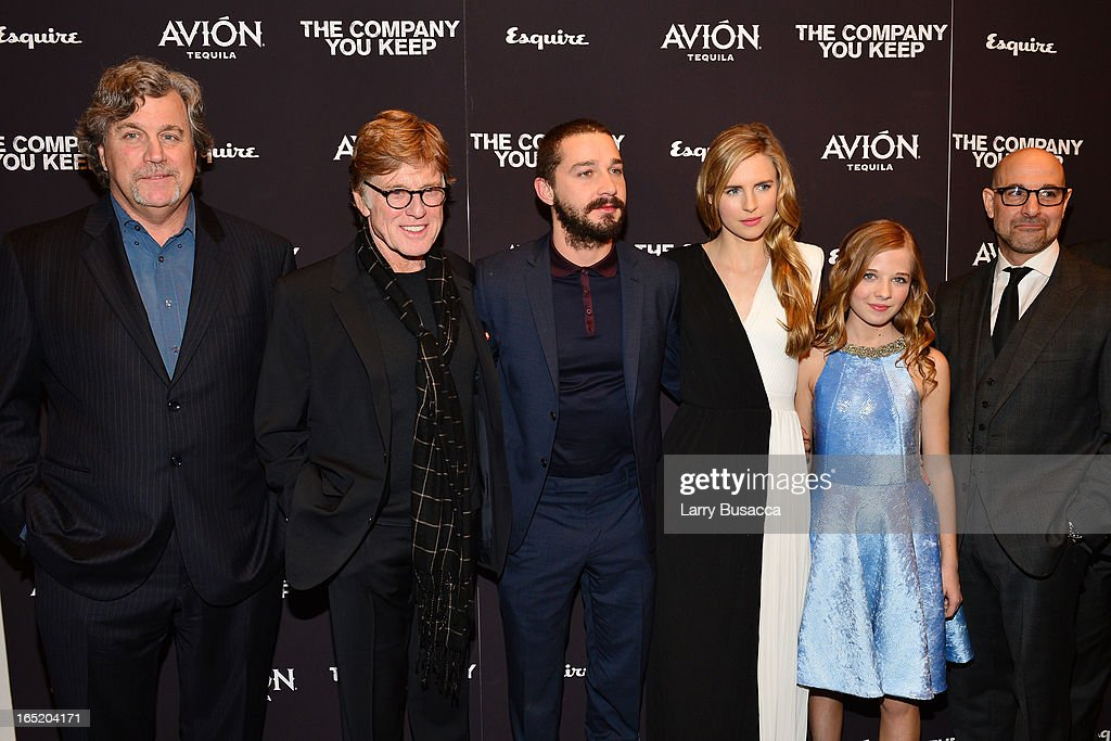 Tom Bernard, Director\Actor Robert Redford, Shia LaBeouf, Brit Marling, Jackie Evancho and Stanley Tucci attend 'The Company You Keep' New York Premiere at The Museum of Modern Art on April 1, 2013 in New York City.