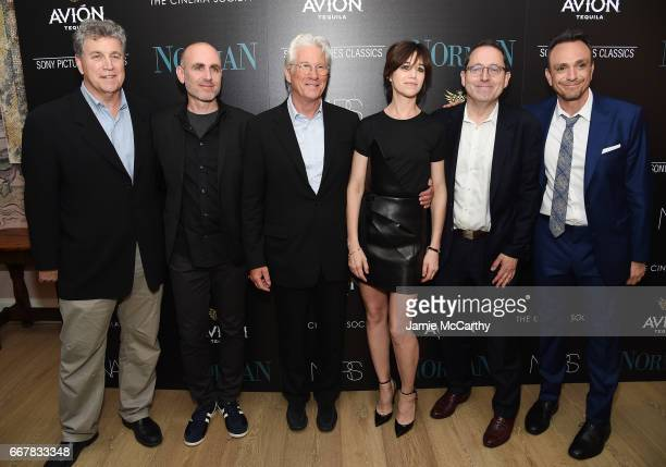Tom Bernard Joseph Cedar Richard Gere Charlotte Gainsbourg Michael Barker and Hank Azaria attend a screening of Sony Pictures Classics' 'Norman'...