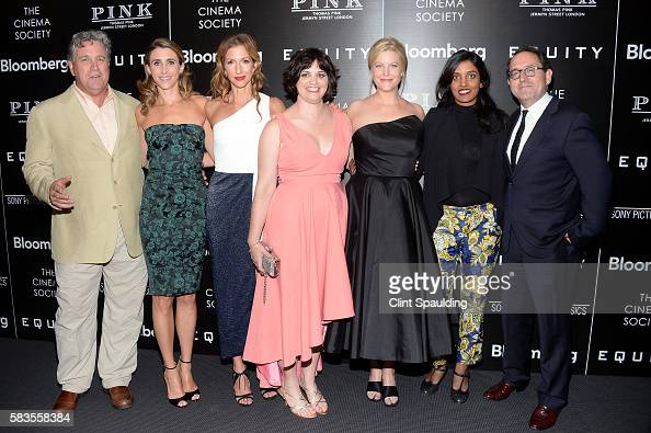Tom Bernard Sarah Megan Thomas Alysia Reiner Amy Fox Anna Gunn Meera Menon and Michael Barker attend a Screening of Sony Pictures Classics' 'Equity'...