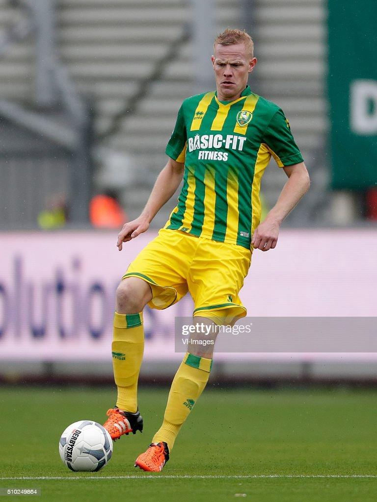 Tom Beugelsdijk of ADO Den Haag during the Dutch Eredivisie match between Excelsior Rotterdam and ADO Den Haag at Woudenstein stadium on February 14, 2016 in Rotterdam, The Netherlands