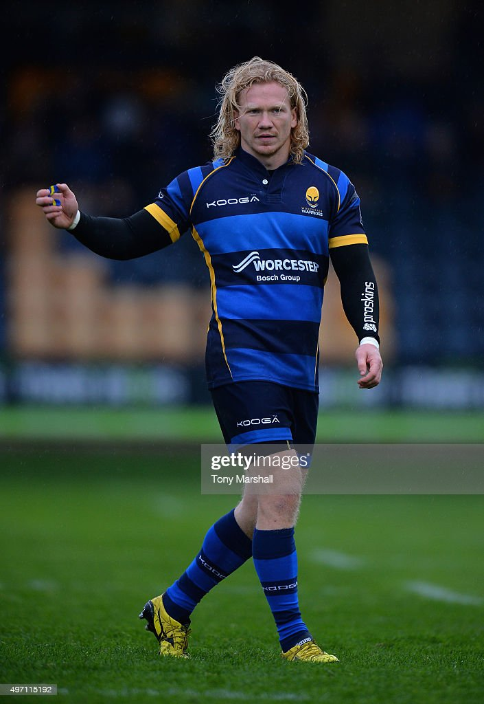 Tom Biggs of Worcester Warriors during the European Rugby Challenge Cup match between Worcester Warriors and La Rochelle at Sixways Stadium on...