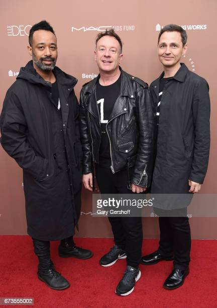 Tom Blackie Carsten Klein and Henri Myers of Maison 10 attend the Housing Works Ground Breaker Awards Dinner on April 26 2017 in New York City