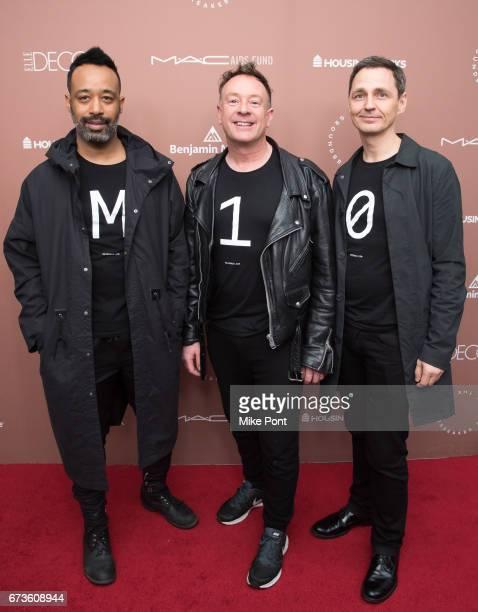 Tom Blackie Carsten Klein and Henri Myers of Maison 10 attend the Housing Works Ground Breaker Awards Dinner at Metropolitan Pavilion on April 26...