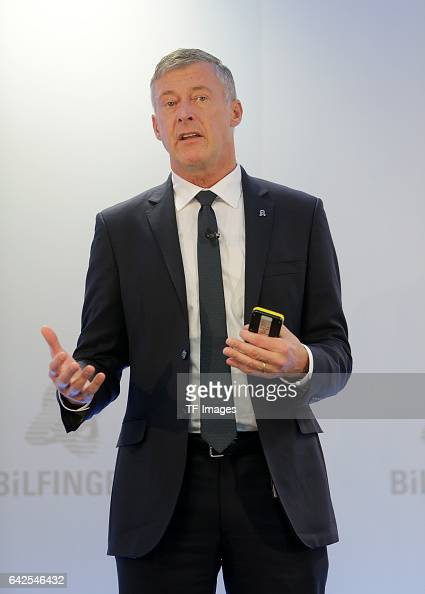 Tom Blades Chairman of the Executive Board speaks during an annual press conference to present the 2016 financial results on February 14 2017 in...