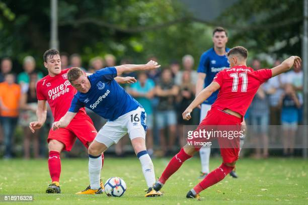 Tom Boere of FC Twente James McCarthy of Everton FC Alexander Laukart of FC Twente during the friendly match between FC Twente and Everton FC at...