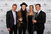 Tom Bohne James Bay Sarah Connor and Frank Briegmann attend the preparty hosted by Universal Music ahead of the Echo Award 2016 at ICB on April 7...