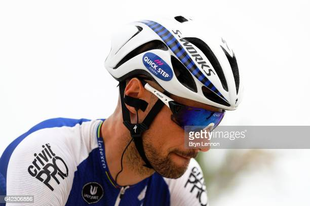 Tom Boonen of Belgium and QuickStep Floors looks on at the start of stage four of the 8th Tour of Oman a 118km stage from Yiti to the Ministry of...