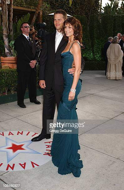 Tom Brady and Bridget Moynahan during 2005 Vanity Fair Oscar Party Arrivals at Mortons in Los Angeles California United States
