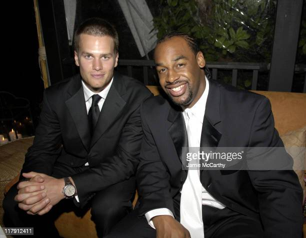 Tom Brady and Donovan McNabb during Bloomberg After Party at Private Residence in Washington District of Columbia United States