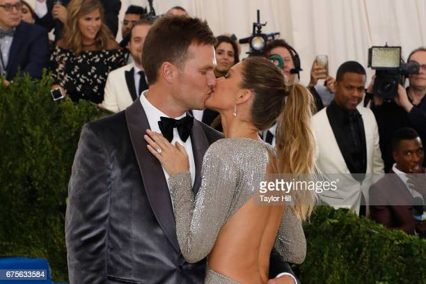 Tom Brady and Gisele Bundchen attend 'Rei Kawakubo/Comme Des Garcons Art of the InBetween' at Metropolitan Museum of Art on May 1 2017 in New York...