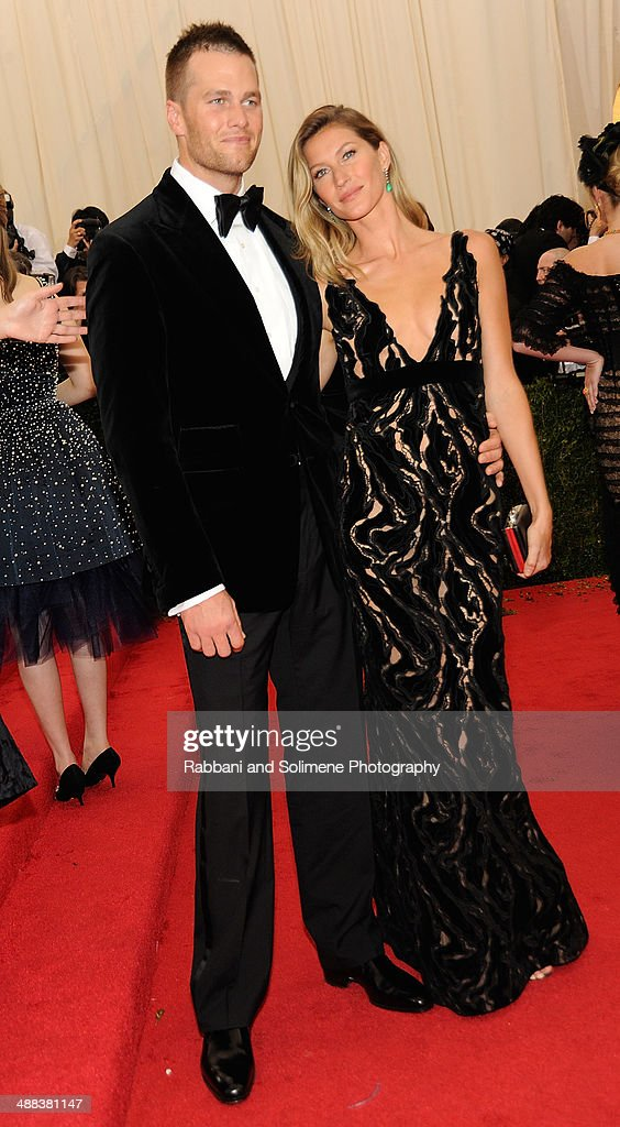 Tom Brady and Gisele Bundchen attend the 'Charles James: Beyond Fashion' Costume Institute Gala at the Metropolitan Museum of Art on May 5, 2014 in New York City.
