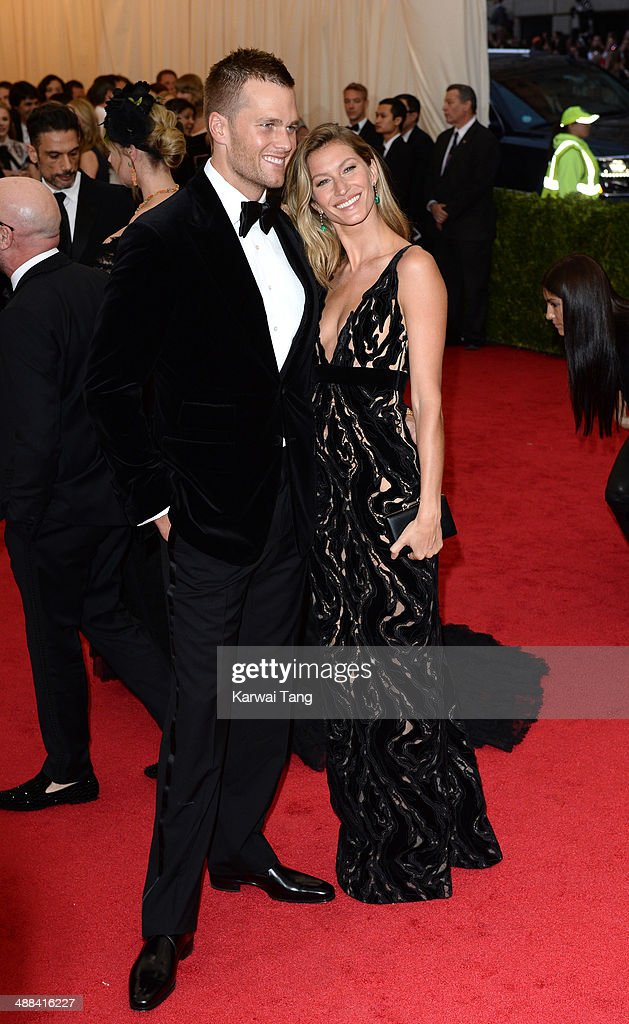 Tom Brady and Gisele Bundchen attend the 'Charles James: Beyond Fashion' Costume Institute Gala held at the Metropolitan Museum of Art on May 5, 2014 in New York City.