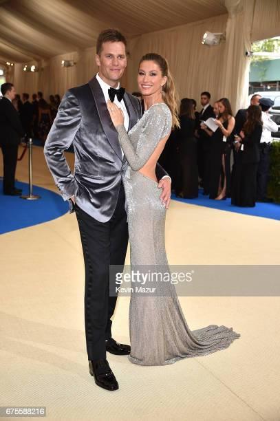 Tom Brady and Gisele Bundchen attend the 'Rei Kawakubo/Comme des Garcons Art Of The InBetween' Costume Institute Gala at Metropolitan Museum of Art...