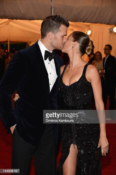 Tom Brady and Gisele Bundchen attend the 'Schiaparelli And Prada Impossible Conversations' Costume Institute Gala at the Metropolitan Museum of Art...