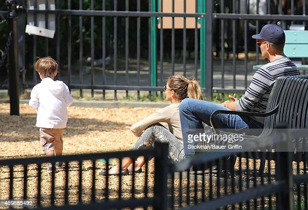 Tom Brady his wife Gisele Bundchen and their son Benjamin Brady are seen on June 01 2012 in Boston Massachusetts