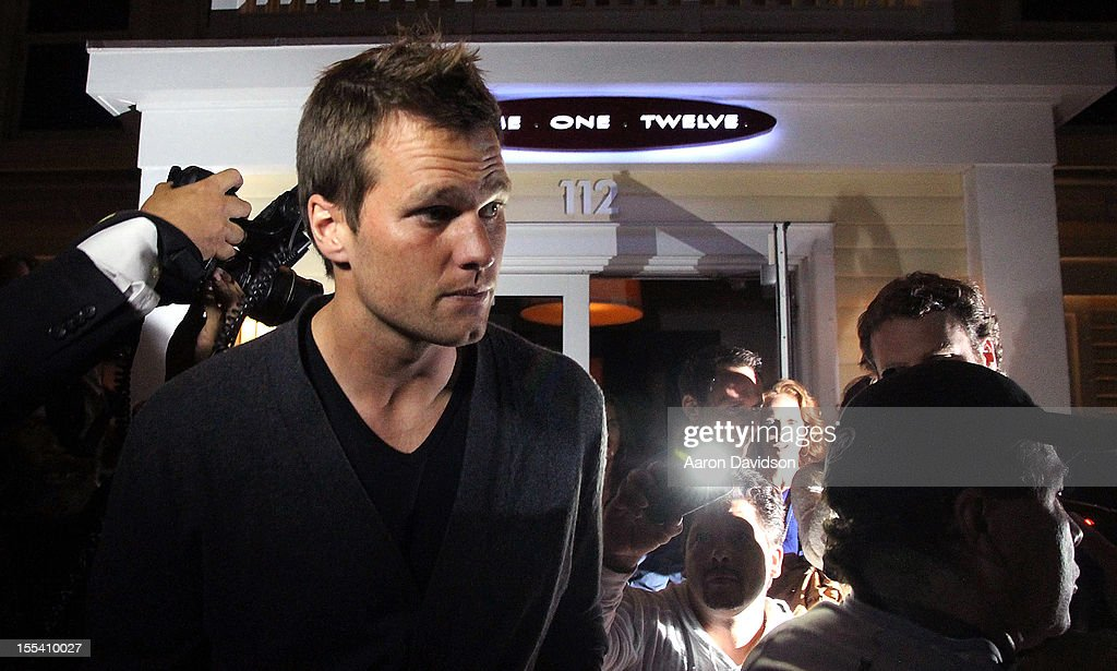 Tom Brady leaves Prime 112 Steakhouse on November 3, 2012 in Miami Beach, Florida.