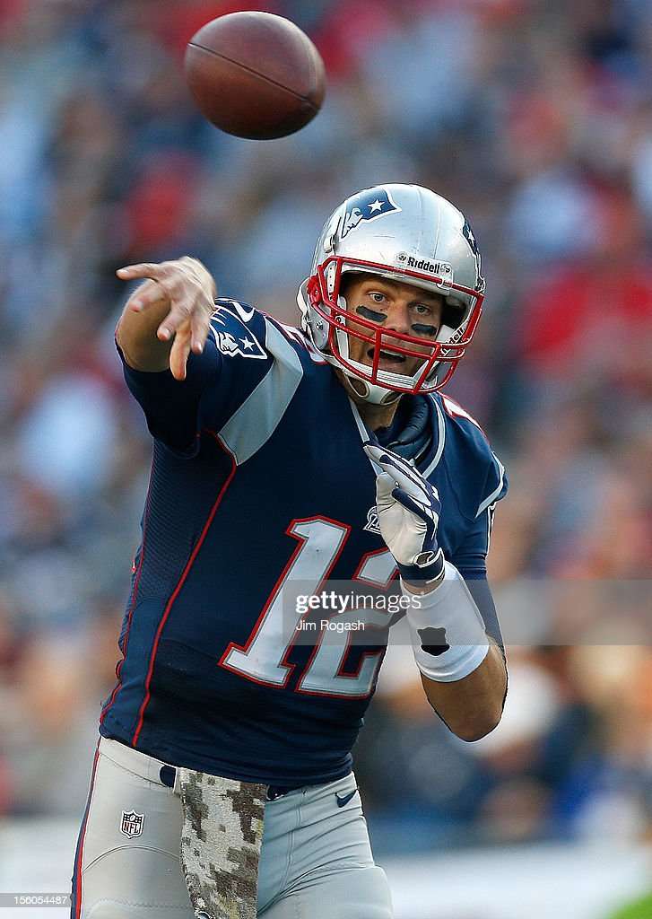 <a gi-track='captionPersonalityLinkClicked' href=/galleries/search?phrase=Tom+Brady+-+American+Football+Quarterback&family=editorial&specificpeople=201737 ng-click='$event.stopPropagation()'>Tom Brady</a> #12 of the New England Patriots throws against the Buffalo Bills in the second half at Gillette Stadium on November 11, 2012 in Foxboro, Massachusetts.
