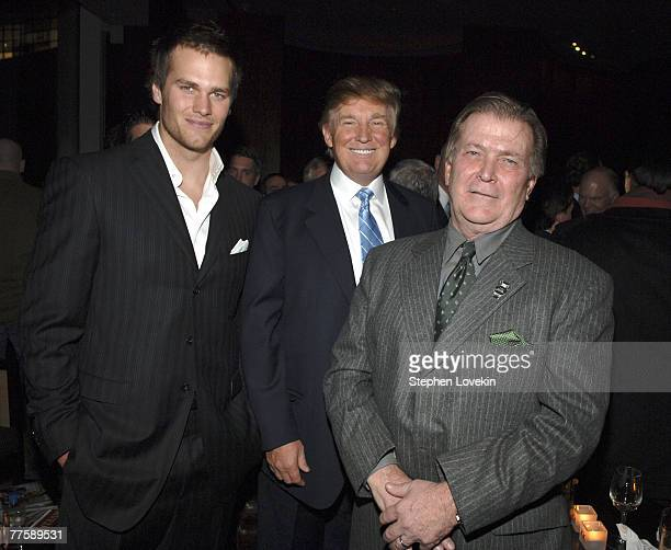 Tom Brady Sports Illustrated Sportman of the Year Donald Trump and Terry McDonald managing editor of SI