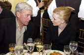 Tom Brokaw and Cate Blanchett during 'Veronica Guerin' Special Screening and After Party in New York City at MGM Screening Room and Hotel Plaza...