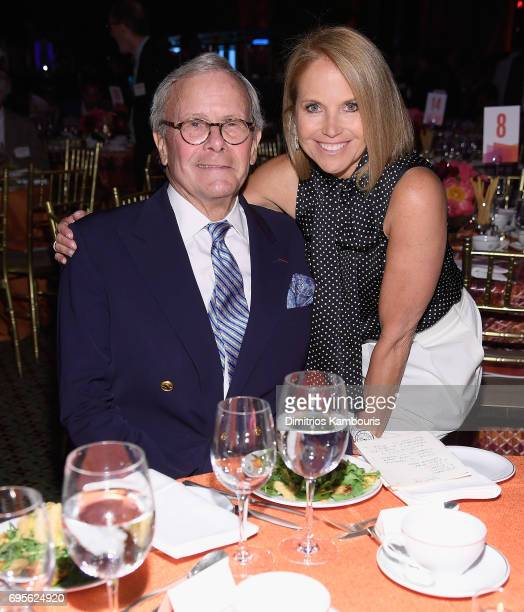 Tom Brokaw and Katie Couric attend The 2017 Mirror Awards at Cipriani 42nd Street on June 13 2017 in New York City