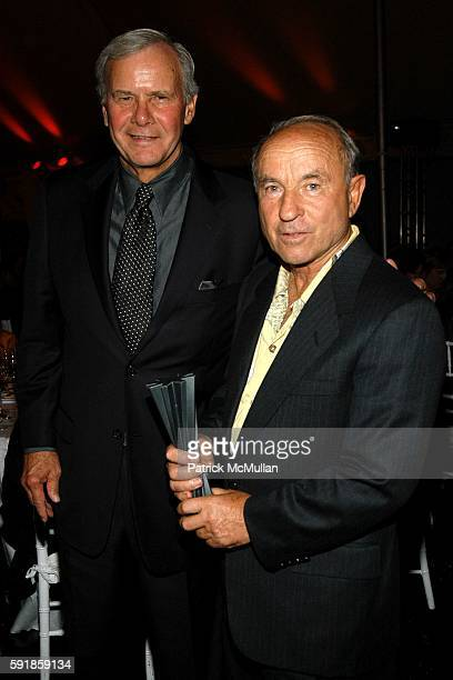 Tom Brokaw and Yvon Chouinard attend National Design Awards Honoring the Best in American Design at The CooperHewitt on October 20 2005 in New York...