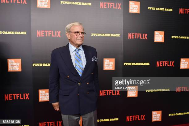 Tom Brokaw attends the 'Five Came Back' world premiere at Alice Tully Hall at Lincoln Center on March 27 2017 in New York City