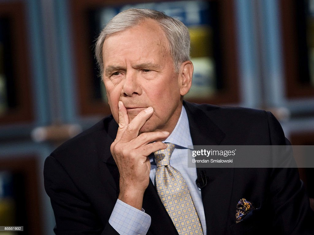 Tom Brokaw of NBC News listens during a live taping of 'Meet the Press' at NBC studios on March 22, 2009 in Washington, DC. Brokaw and anchor of CNBC's 'Street Signs' Erin Burnett appeared on the show's roundtable segment to speak about the efforts to stimulate the U.S. economy and outrage resulting from the bonuses to AIG executives.