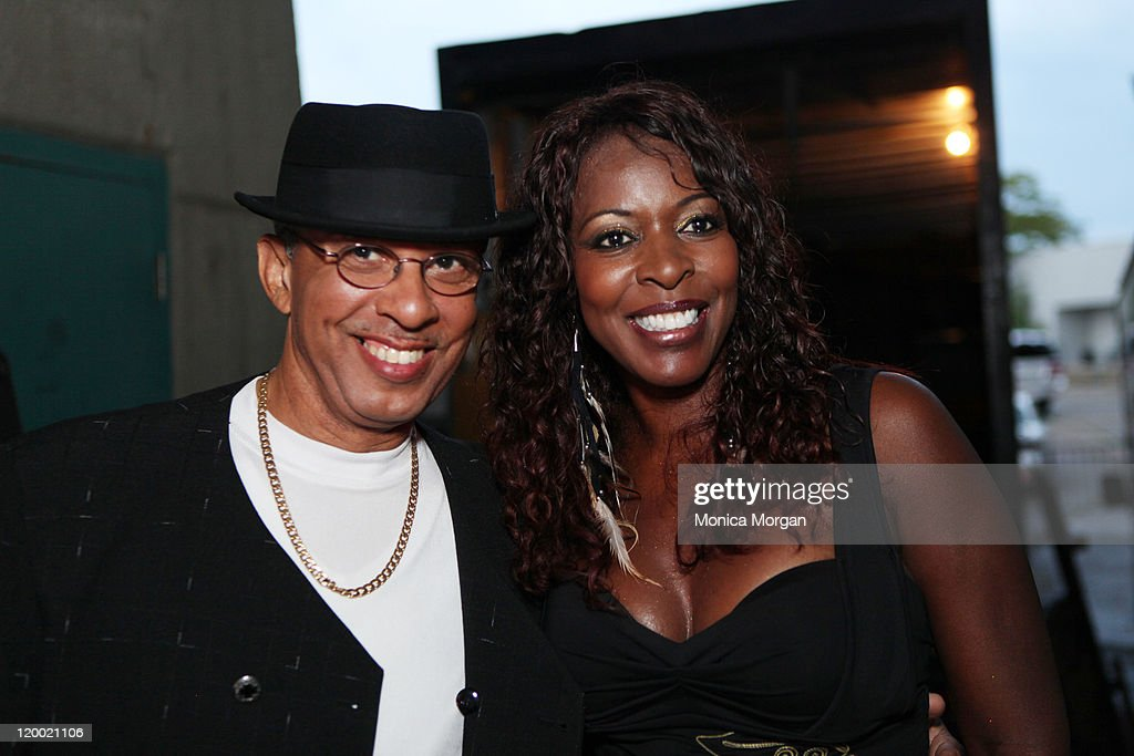 Tom Brown and Althea Rene' backstage at Chene Park on July 27, 2011 in Detroit, Michigan.