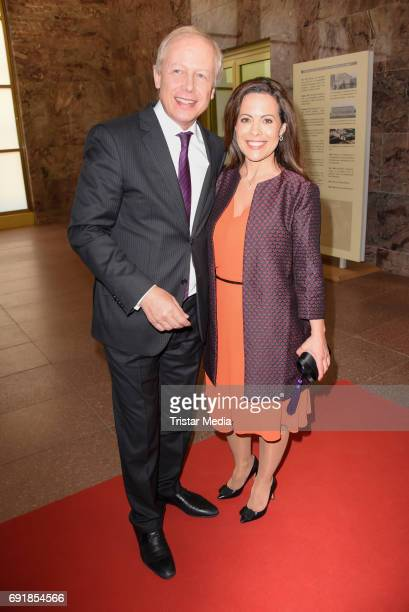Tom Buhrow and his girlfriend Daniela Boff attend the CIVIS Media Award 2017 on June 1 2017 in Berlin Germany