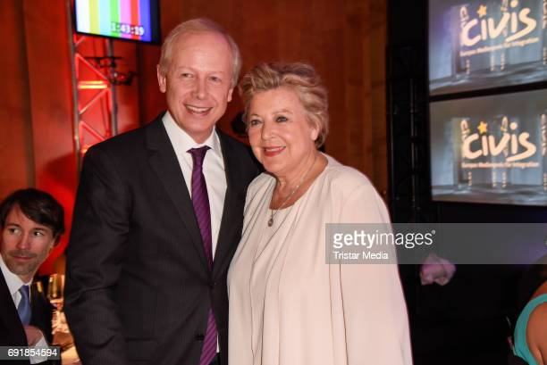 Tom Buhrow and MarieLuise Marjan attend the CIVIS Media Award 2017 on June 1 2017 in Berlin Germany