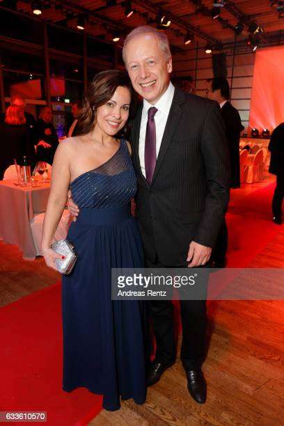 Tom Buhrow and partner Sabine Stamer attend the German Television Award at Rheinterrasse on February 2 2017 in Duesseldorf Germany