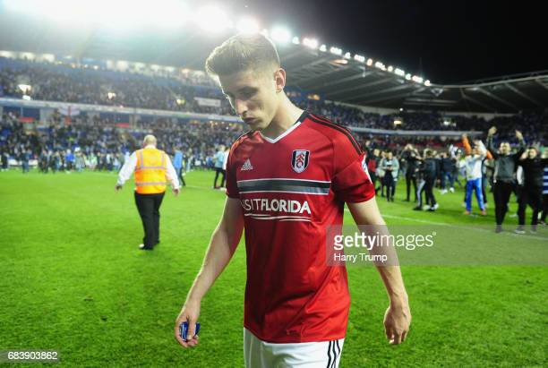 Tom Cairney of Fulham is dejected after the Sky Bet Championship Play Off Second Leg match between Reading and Fulham at Madejski Stadium on May 16...