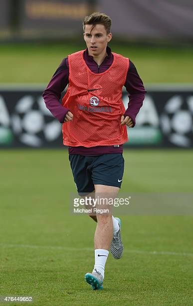 Tom Carroll looks on during the England U21 Training Session at St Georges Park on June 9 2015 in BurtonuponTrent England