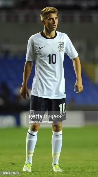 Tom Carroll of England during the 2015 UEFA European U21 Championships Qualifier between England U21 and Moldova U21 at The Madejski Stadium on...