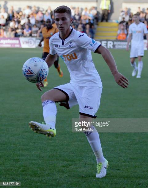 Tom Carroll of Swansea City during the pre season friendly match between Barnet and Swansea City at The Hive on July 12 2017 in Barnet England