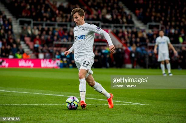 Tom Carroll of Swansea City in action during the Premier League match between AFC Bournemouth and Swansea City at Vitality Stadium on March 18 2017...