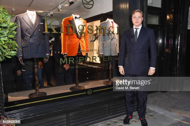 Tom Chamberlin attends the launch of the 'Kingsman' shop on St James's Street in partnership with MR PORTER MARV Twentieth Century Fox in celebration...